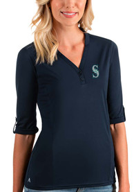 Seattle Mariners Womens Antigua Accolade T-Shirt - Navy Blue