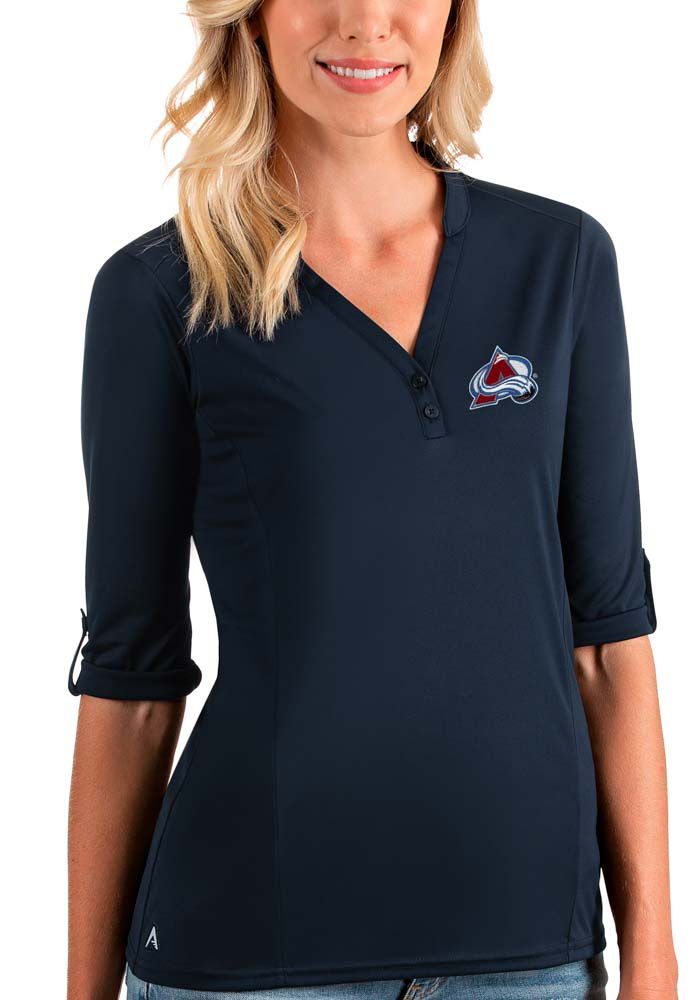 Antigua Colorado Avalanche Womens Navy Blue Accolade LS Tee - Image 1