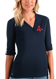 Boston Red Sox Womens Antigua Accolade T-Shirt - Navy Blue