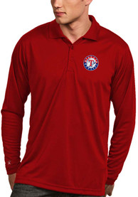 Antigua Texas Rangers Mens Red ls exceed polo Polo