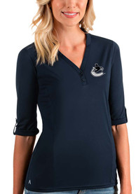 Vancouver Canucks Womens Antigua Accolade T-Shirt - Navy Blue