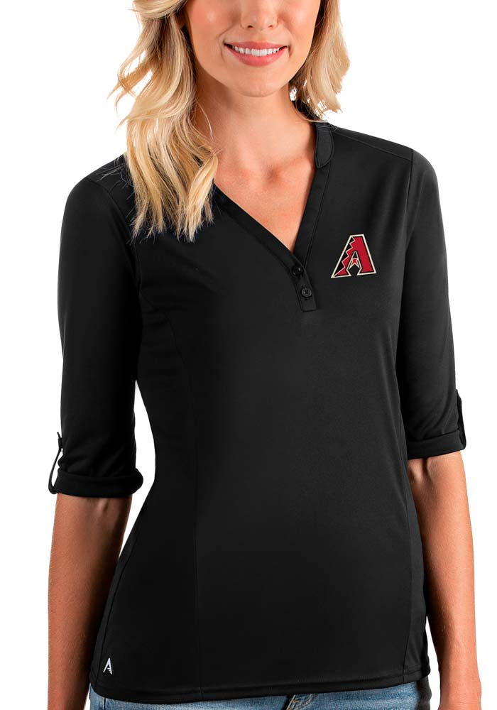 Antigua Arizona Diamondbacks Womens Black Accolade LS Tee - Image 1