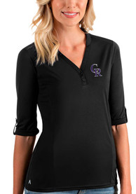 Colorado Rockies Womens Antigua Accolade T-Shirt - Black