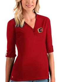 Calgary Flames Womens Antigua Accolade T-Shirt - Red