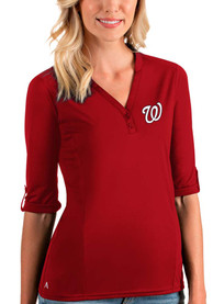 Washington Nationals Womens Antigua Accolade T-Shirt - Red
