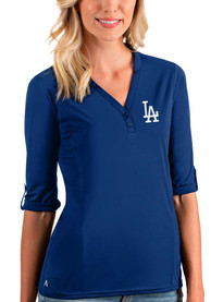 Los Angeles Dodgers Womens Antigua Accolade T-Shirt - Blue