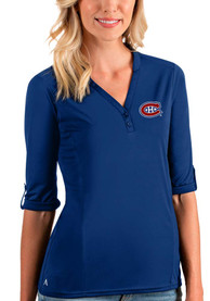 Montreal Canadiens Womens Antigua Accolade T-Shirt - Blue