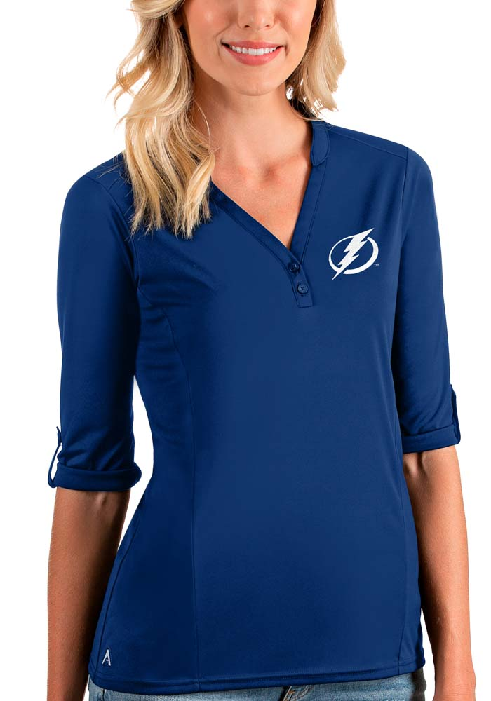 Antigua Tampa Bay Lightning Womens Blue Accolade LS Tee - Image 1