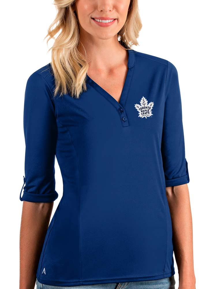 Antigua Toronto Maple Leafs Womens Blue Accolade LS Tee - Image 1