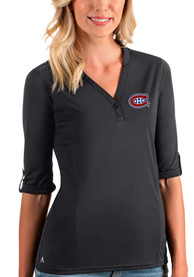 Montreal Canadiens Womens Antigua Accolade T-Shirt - Grey