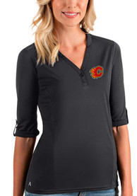 Calgary Flames Womens Antigua Accolade T-Shirt - Grey
