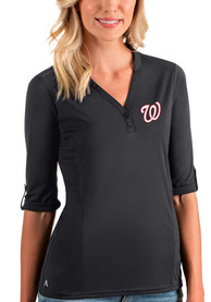 Washington Nationals Womens Antigua Accolade T-Shirt - Grey