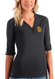 San Diego Padres Womens Antigua Accolade T-Shirt - Grey