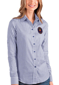 Chicago Fire Womens Antigua Structure Dress Shirt - Blue