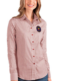 Chicago Fire Womens Antigua Structure Dress Shirt - Red