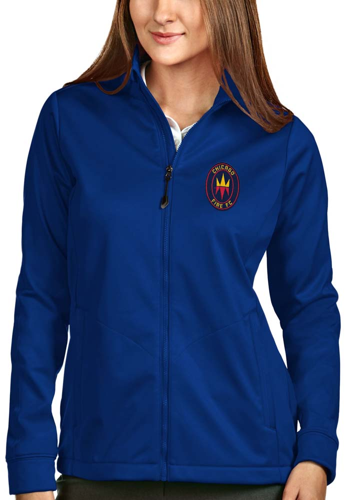 Antigua Chicago Fire Womens Blue Golf Heavy Weight Jacket - Image 1