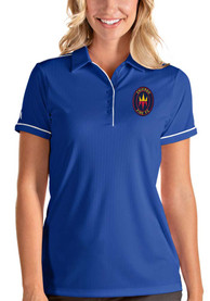 Chicago Fire Womens Antigua Salute Polo Shirt - Blue
