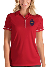 Chicago Fire Womens Antigua Salute Polo Shirt - Red