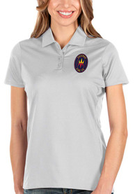 Chicago Fire Womens Antigua Balance Polo Shirt - White