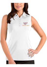 Virginia Tech Hokies Womens Antigua Tribute Sleeveless Tank Top - White