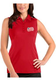 New England Revolution Womens Antigua Tribute Sleeveless Tank Top - Red