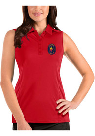 Chicago Fire Womens Antigua Tribute Sleeveless Tank Top - Red