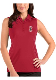 Stanford Cardinal Womens Antigua Tribute Sleeveless Tank Top - Red