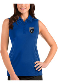 San Jose Earthquakes Womens Antigua Tribute Sleeveless Tank Top - Blue