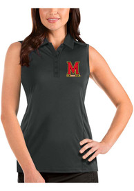 Maryland Terrapins Womens Antigua Tribute Sleeveless Tank Top - Grey