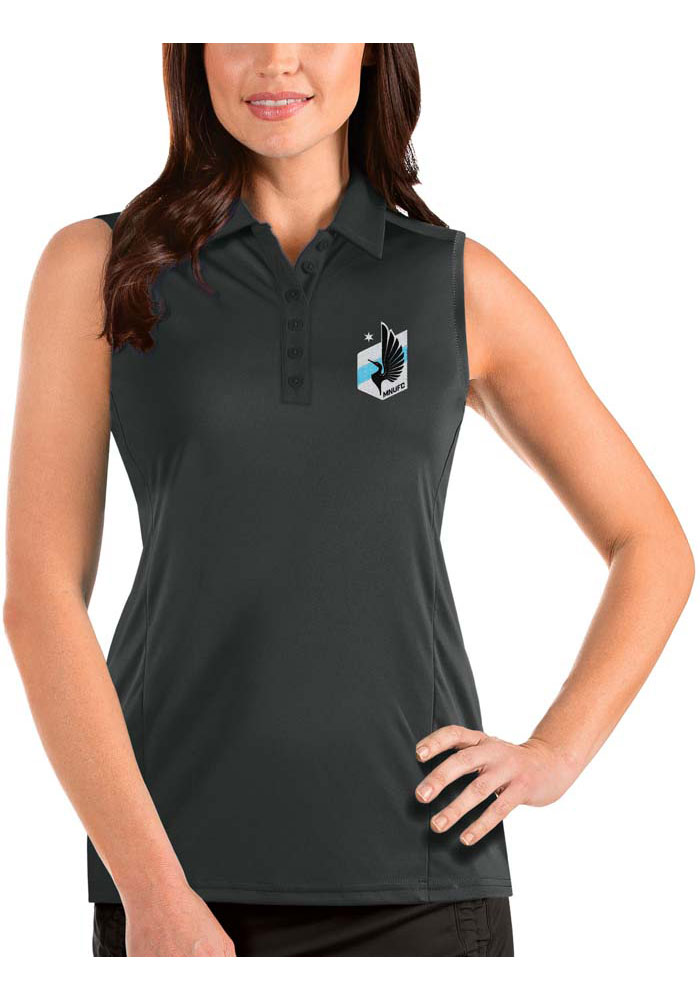Minnesota United FC Womens Antigua Tribute Sleeveless Tank Top - Grey