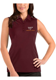 Virginia Tech Hokies Womens Antigua Tribute Sleeveless Tank Top - Maroon