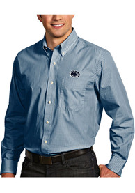 Antigua Penn State Nittany Lions Mens Navy Blue Republic Dress Shirt