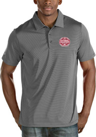 Alabama Crimson Tide Antigua 2020 Football National Champions Quest Polo Shirt - Grey