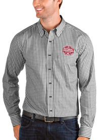 Alabama Crimson Tide Antigua 2020 Football National Champions Structure Dress Shirt - Black