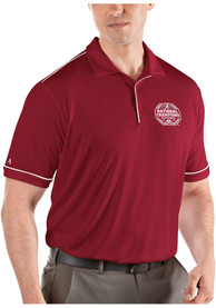 Alabama Crimson Tide Antigua 2020 Football National Champions Salute Polo Shirt - Red