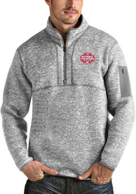 Alabama Crimson Tide Antigua 2020 Football National Champions Fortune 1/4 Zip Fashion - Grey