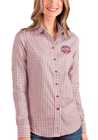 Alabama Crimson Tide Womens Antigua 2020 Football National Champions Structure Dress Shirt - Red