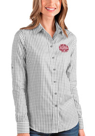 Alabama Crimson Tide Womens Antigua 2020 Football National Champions Structure Dress Shirt - Grey