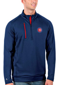 Chicago Cubs Antigua Generation 1/4 Zip Pullover - Blue