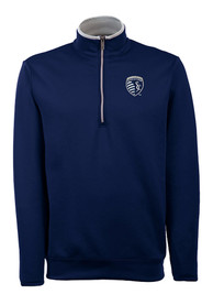 Sporting Kansas City Antigua Leader 1/4 Zip Pullover - Blue