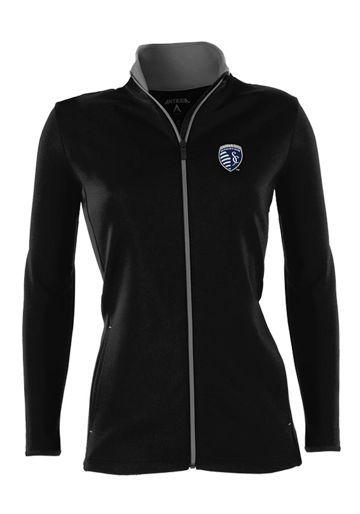 Antigua Sporting Kansas City Womens Black Leader Light Weight Jacket - Image 1