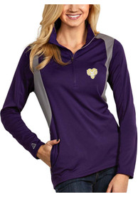 Antigua West Chester Golden Rams Womens Delta Purple 1/4 Zip Pullover