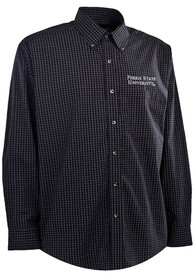 Antigua Ferris State Bulldogs Black Esteem Dress Shirt