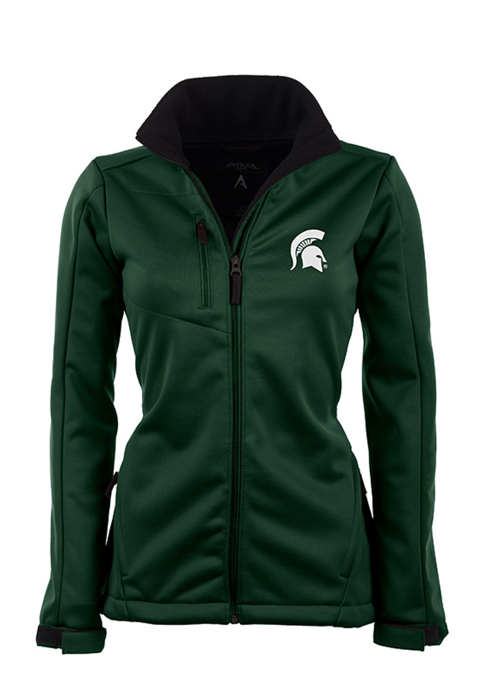 Antigua Michigan State Spartans Womens Green Traverse Heavy Weight Jacket - Image 1