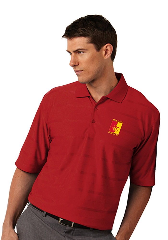 Antigua Pitt State Gorillas Mens Red Tone Short Sleeve Polo - Image 1
