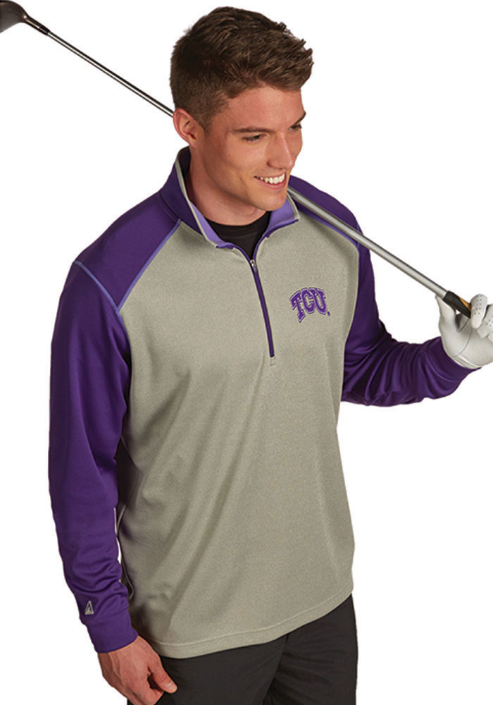 Antigua Horned Frogs Mens Purple Crux 14 Zip Pullover 3231746