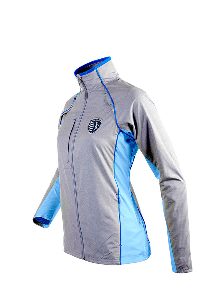 Antigua Sporting Kansas City Womens Light Blue Marquee Light Weight Jacket - Image 1