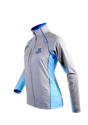 Antigua Kansas City Royals Womens Grey Marquee Light Weight Jacket