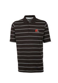 Cleveland Browns Antigua Deluxe Polo Shirt - Brown