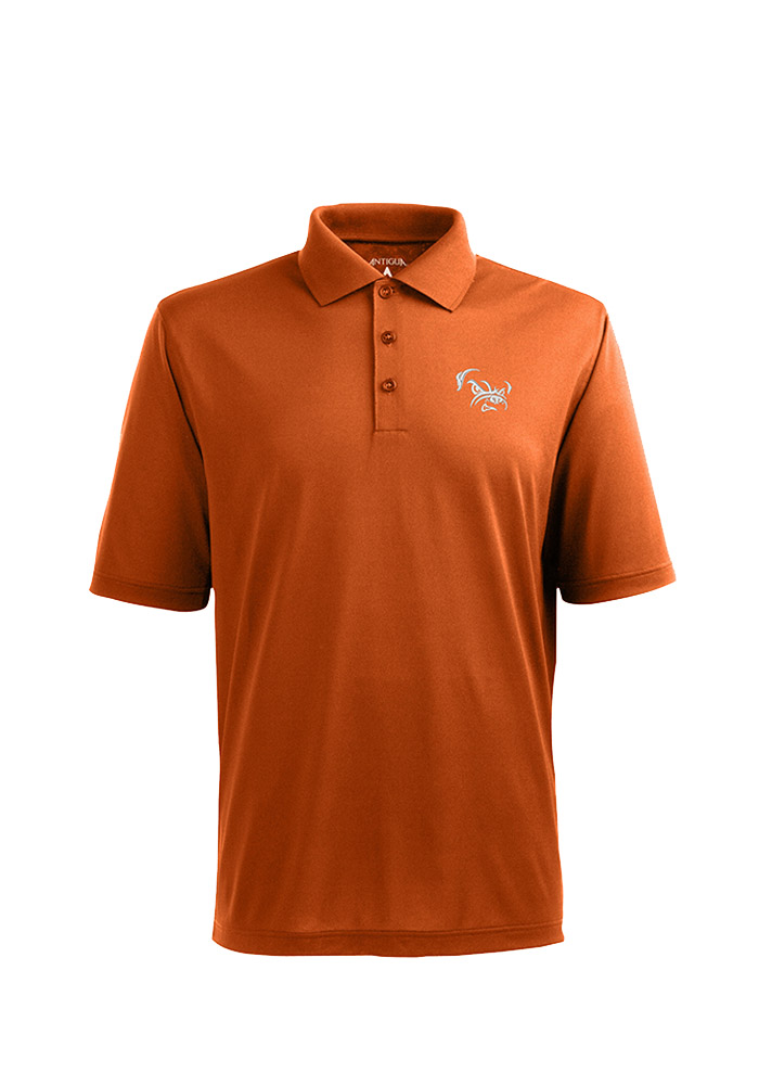 Antigua Cleveland Browns Mens Orange Pique Short Sleeve Polo - Image 1